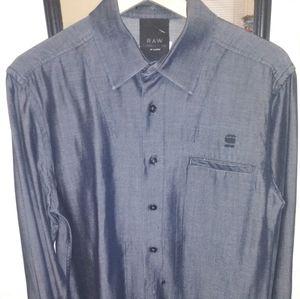 G-Star Raw mens l/s button down shirt